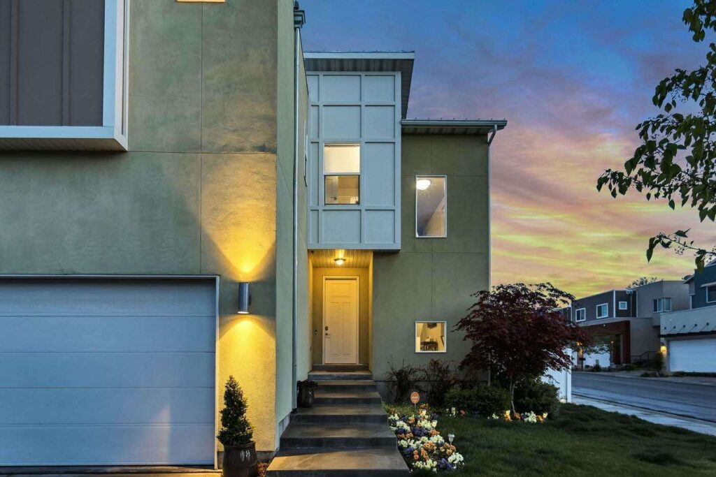 house at evening - how to photograph a green home