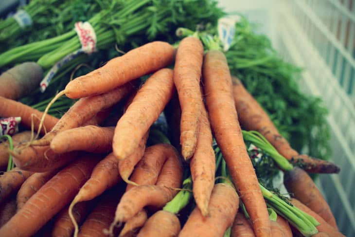 Carrots - root vegetables stored in cellar