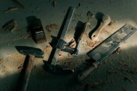 tools on dark background - tips for eco-friendly diy repairs