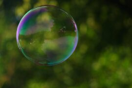 large soap bubble against outdoor background - 7 reasons to consider all-natural products