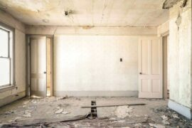 white room undergoing renovations - 4 home improvement tips for sustainable living
