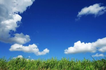 grass under blue sky with clouds - 4 big ways to live green