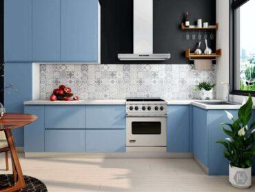 tidy blue kitchen - genius hacks for an energy-efficient kitchen